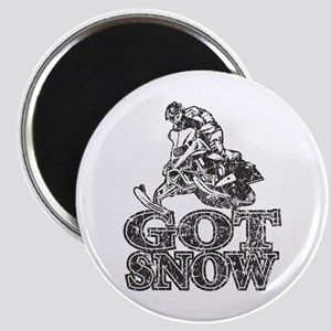 Got Snow Distressed black Magnet